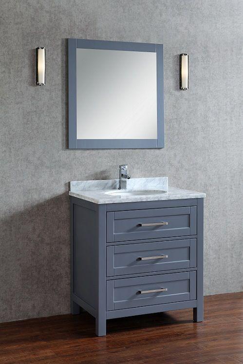 Toscana 30 Inch Charcoal Grey Vanity
