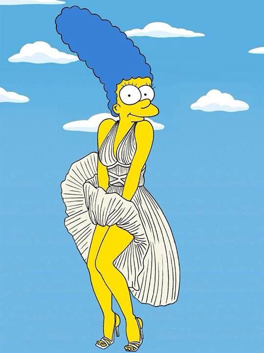 Marge simpson as marilyn monroe the simpsons pinterest ilustraciones caricaturas et dibujos - Bande dessinee simpson ...