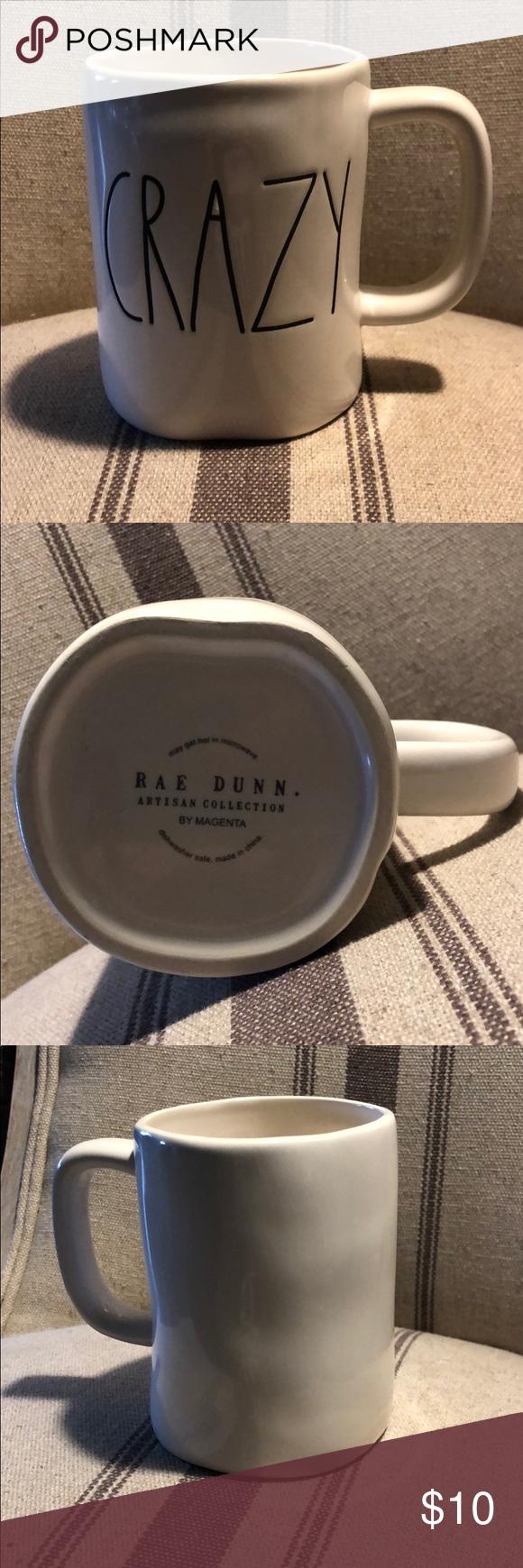 Rae Dunn CRAZY Mug Rae Dunn CRAZY Mug.  Displayed only. Smoke/pet free home. Rae Dunn Accents Decor #mugdisplay