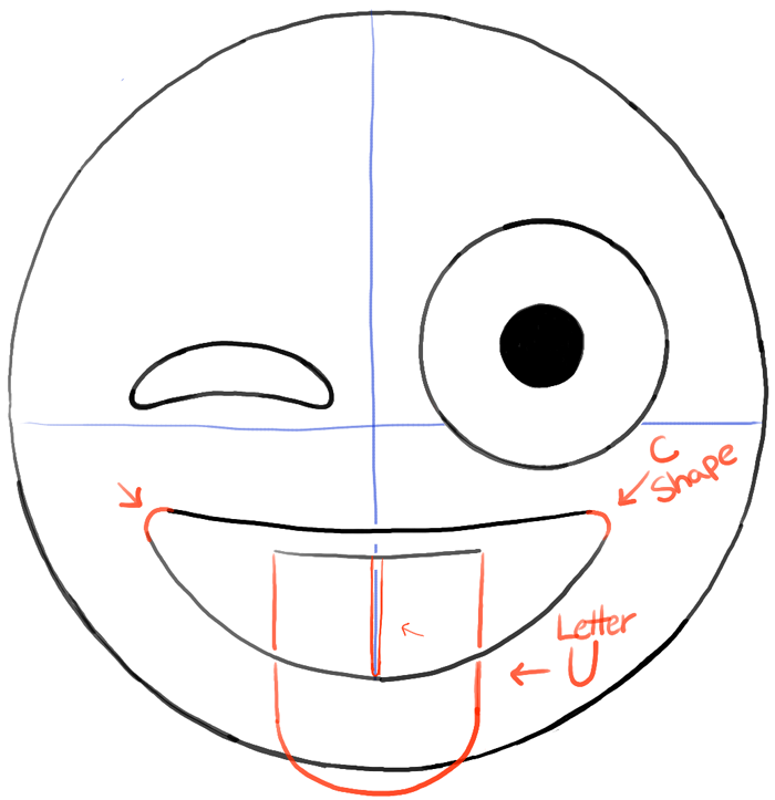 How To Draw Emojis Winking With Tongue Out Face Drawing Tutorial How To Draw Step By Step Drawing Tutorials Emoji Drawing Emoji Drawings Emoji Craft