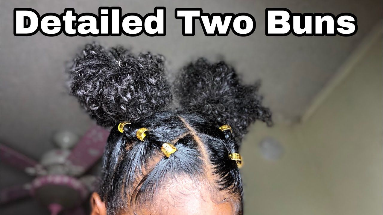 Two Buns With Rubber Band Details Youtube Natural Hair Styles Easy Natural Hair Braids Natural Hair Bun Styles