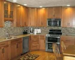backsplash for kitchen with honey oak cabinets - Google Search #honeyoakcabinets