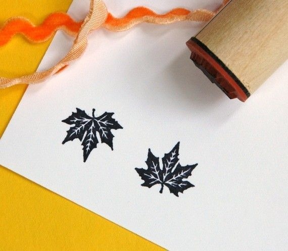 Silver Maple Rubber Stamp by norajane on Etsy, $3.50