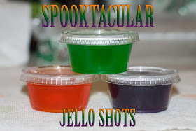 Halloween Jello Shots #halloweenjelloshots These 3 Halloween Jello Shots are perfect to enjoy with friends! Fireball and jello, yes please! #jelloshotrecipes