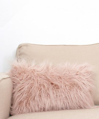 Look At This Zulilyfind Rose Smoke Rectangle Faux Fur Throw Pillow Zulilyfinds Rose Gold Throw Pillows Faux Fur Throw Pillow Gold Throw Pillows