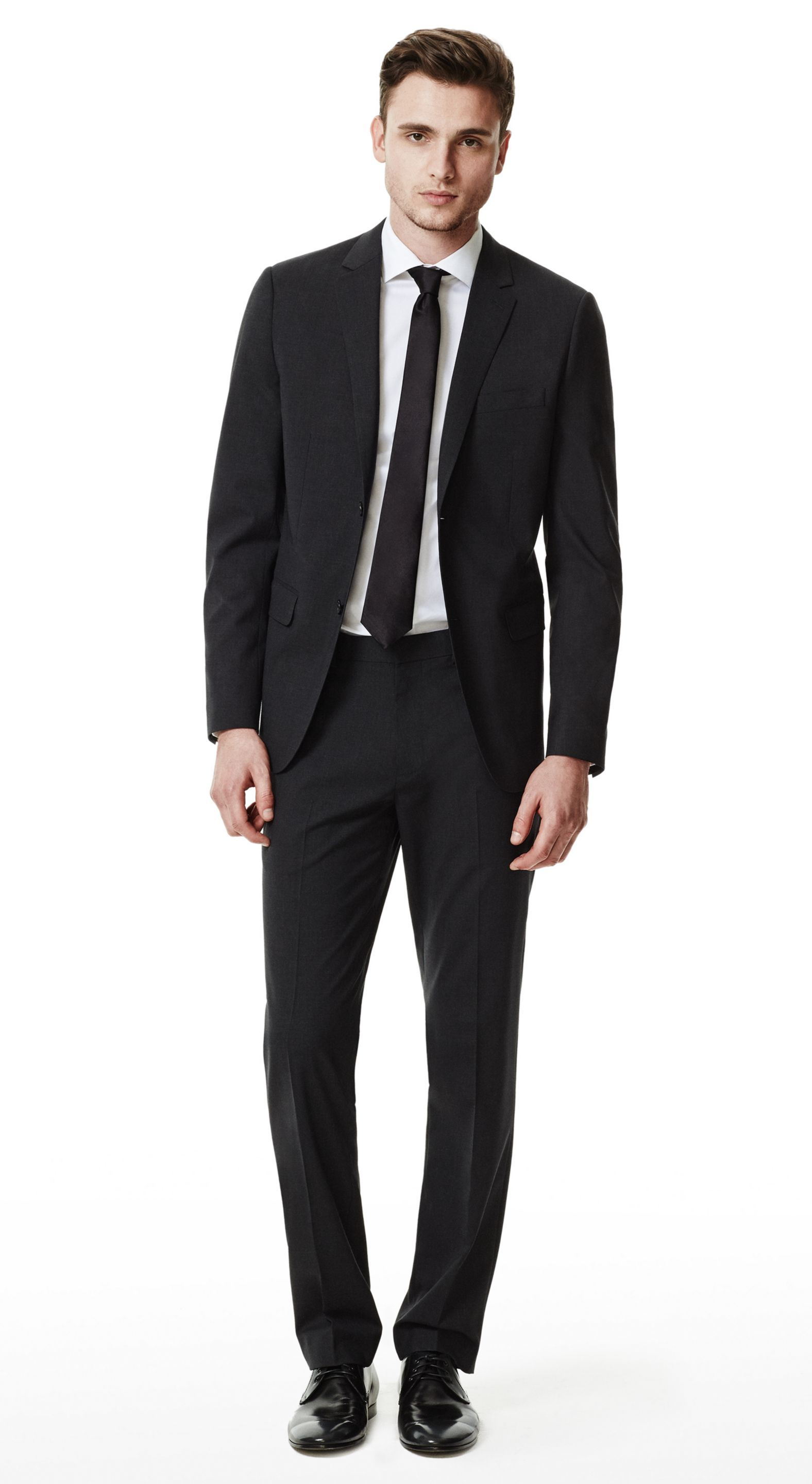 55c31a51 THEORY Dark Charcoal Wellar HC Suit Jacket & Marlo Suit Pant in New Tailor  Wool Bistretch