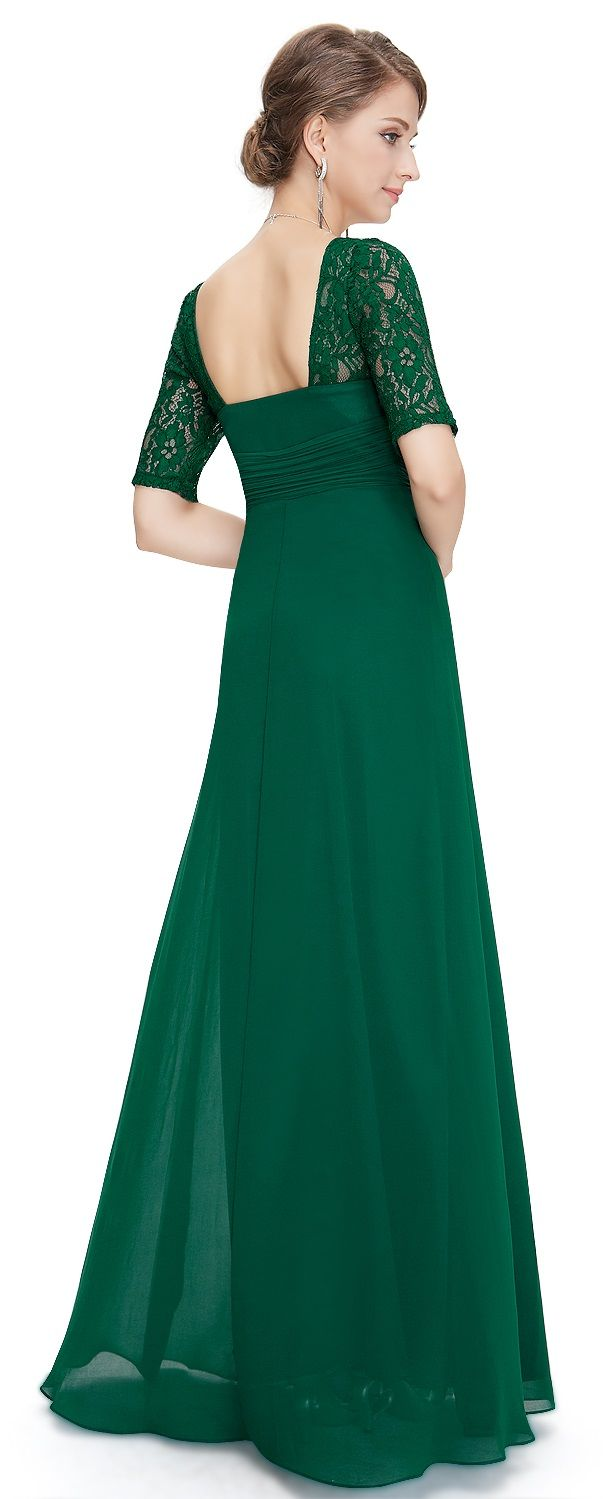 Penny us gatsby emerald green lace maxi prom evening cruise dress