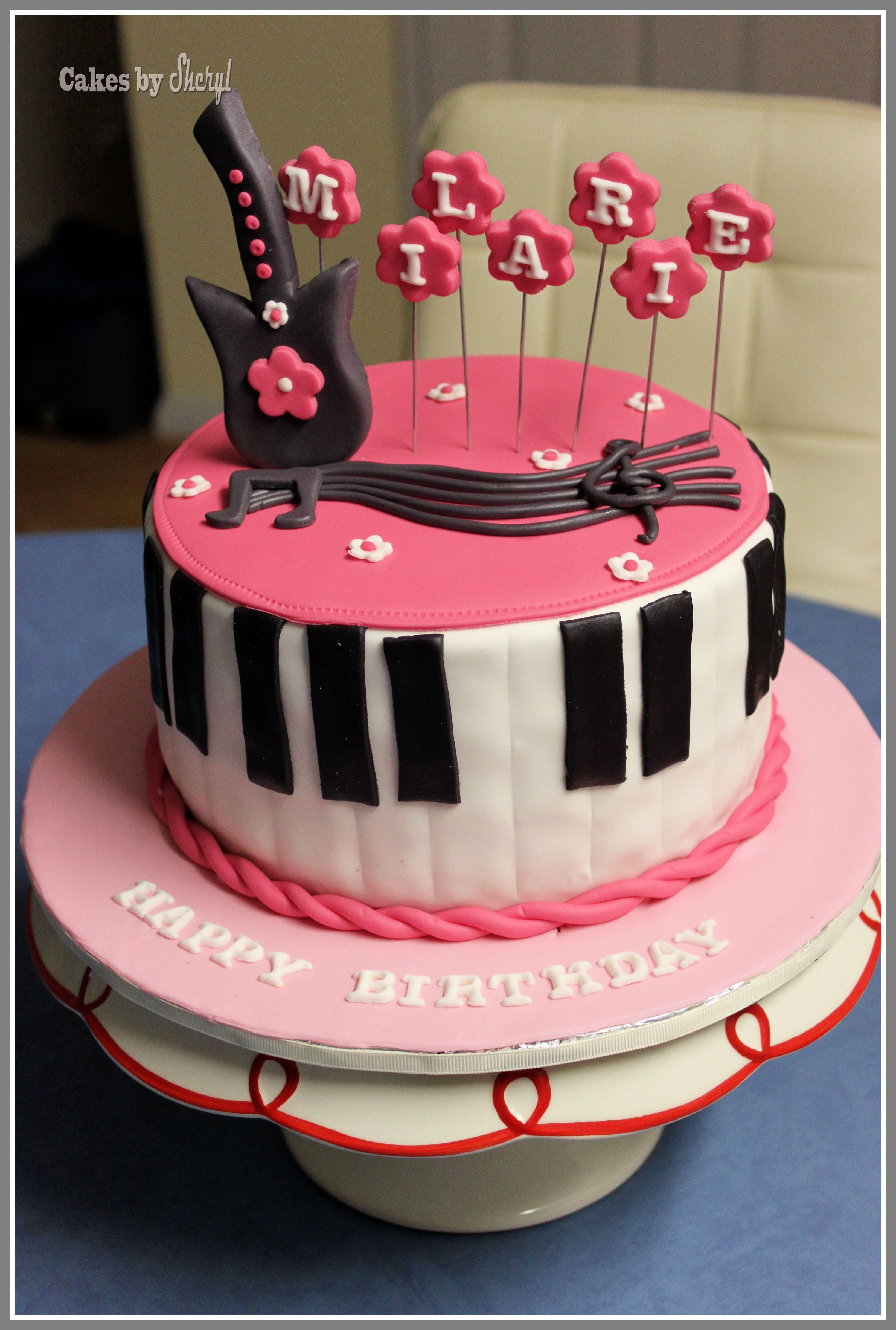 Music themed cake | Themed cakes, Music themed cakes, Cake