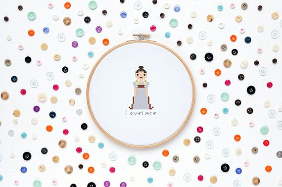 DIY Cross Stitch Kit, Ada Lovelace Cross Stitch, Science Cross Stitch, Handmade gift, Complete with Supplies and Easy to Follow Instructions