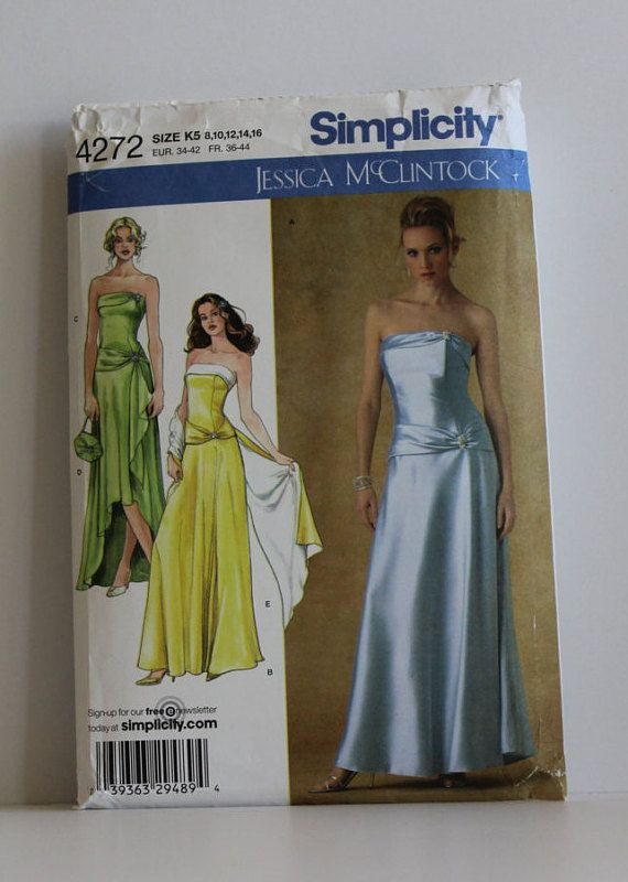 Misses\' dress pattern, Simplicity Pattern 4272 Multiple Sizes 8-16 ...