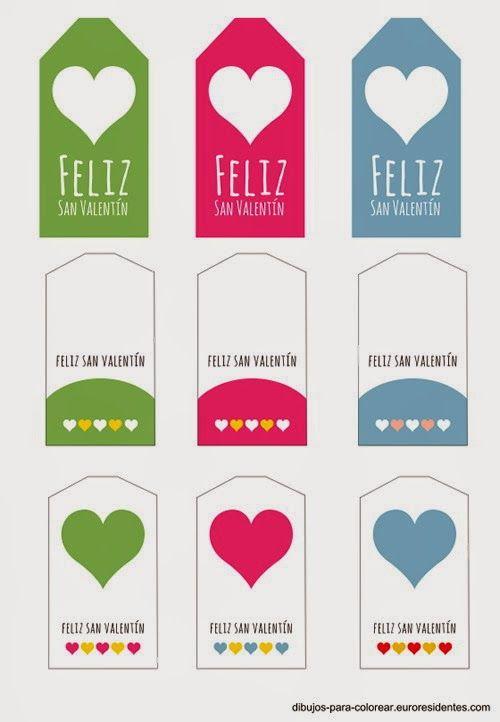 Imprimolandia: Etiquetas San Valentín en español | Holiday ...