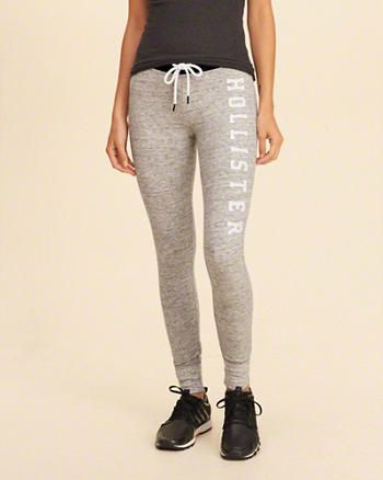 e7b629805cc0a1 Hollister Graphic Fleece Leggings   What I would pack for my little ...