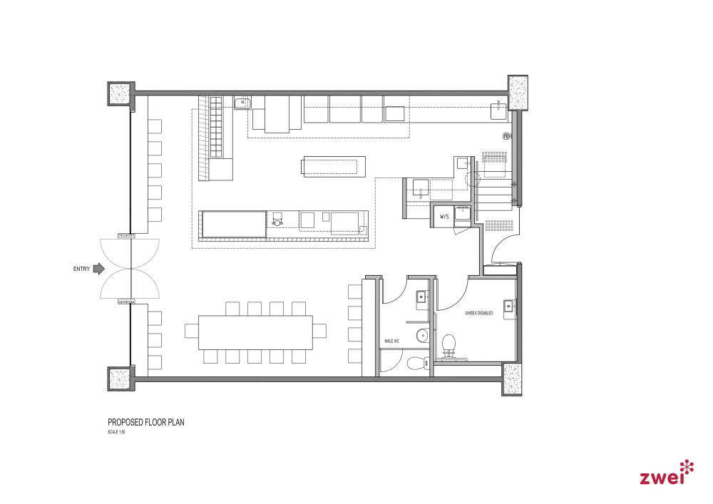Gallery of Eleven Inch Pizza / Zwei 9 Shop house plans