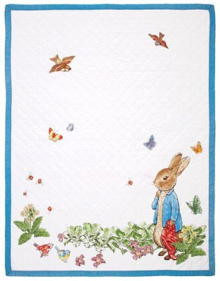 Peter rabbit story book white and blue border children 39 s - Peter rabbit nursery border ...