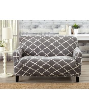 Marvelous Printed Velvet Plush Form Fit Stretch Loveseat Slipcover Unemploymentrelief Wooden Chair Designs For Living Room Unemploymentrelieforg