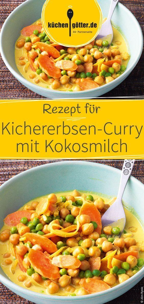 Schnelles Kichererbsen-Curry mit Kokosmilch - #asian #KichererbsenCurry #Kokosmilch #Mit #Schnelles #vegetarischerezepteschnell
