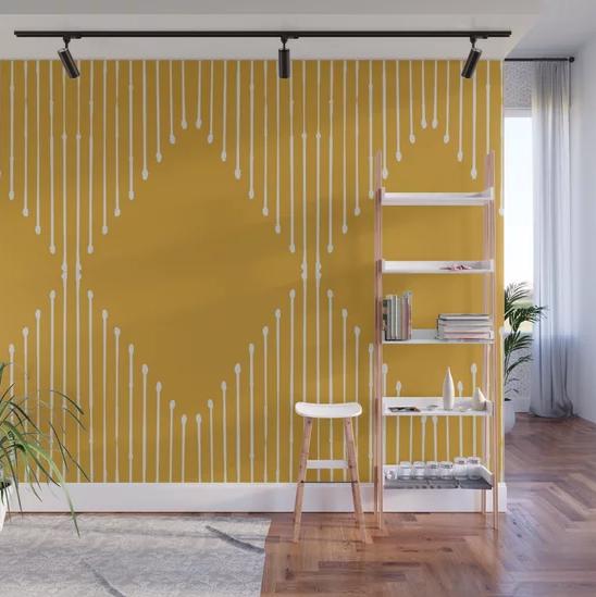 """Geo / Yellow"" Wall Mural by Summer Sun Home Art | Society6 thumbnail"