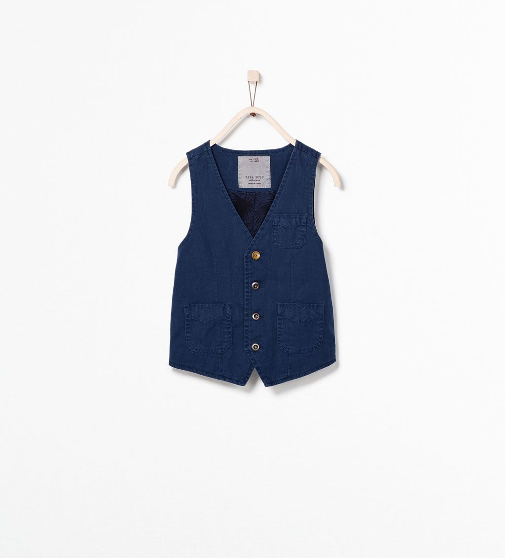 Waistcoat With Patterned Lining Boys Jacket Jackets