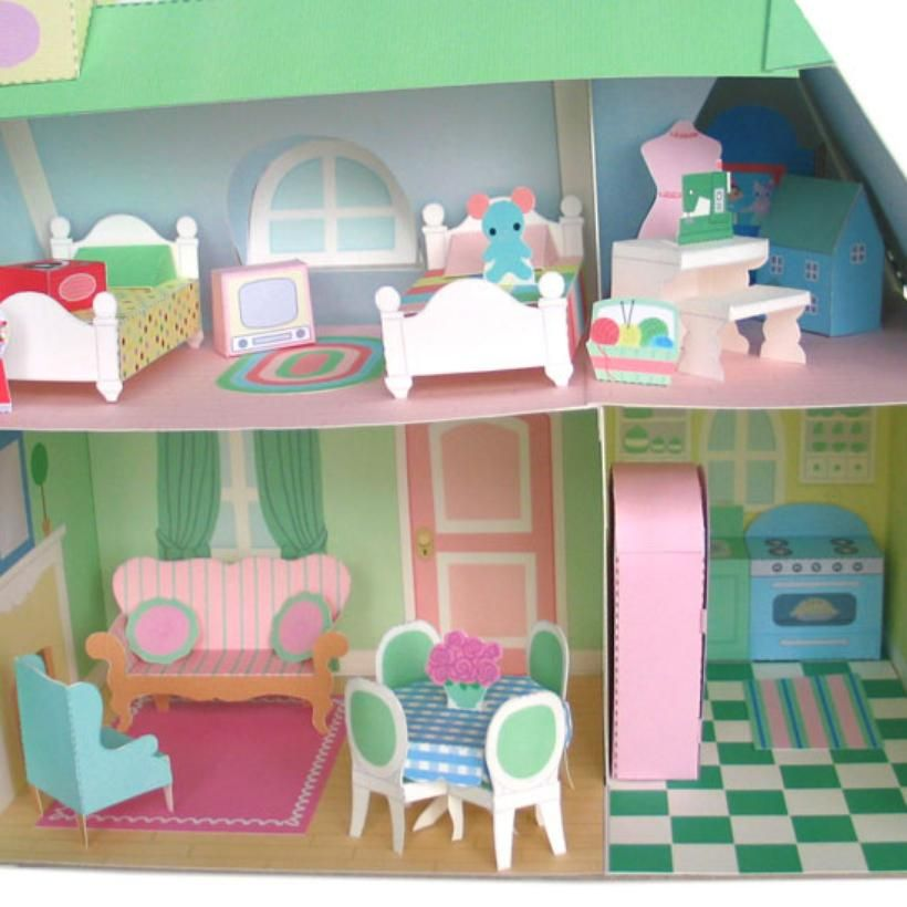 Printable Dollhouse Furniture! NEAT! Could Do This For Lalaloopsy Minis