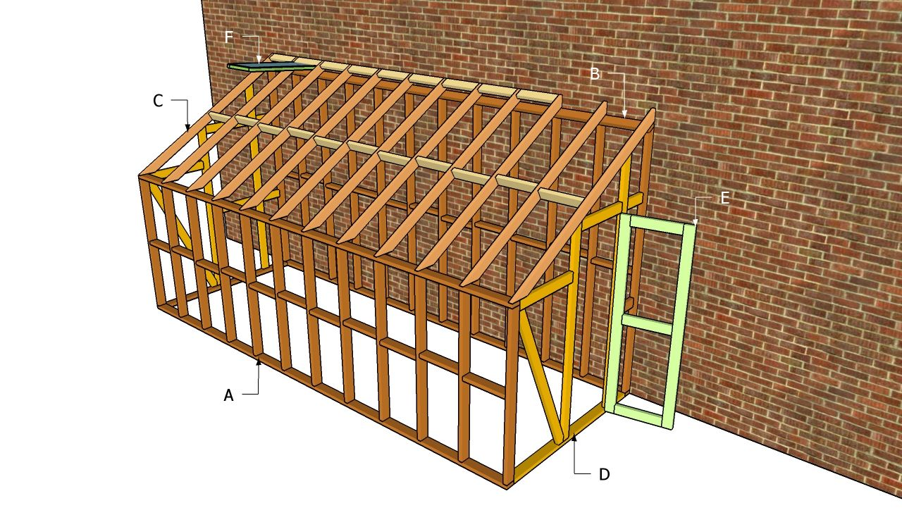 Lean to greenhouse plans free outdoor plans diy shed for House plans with greenhouse attached