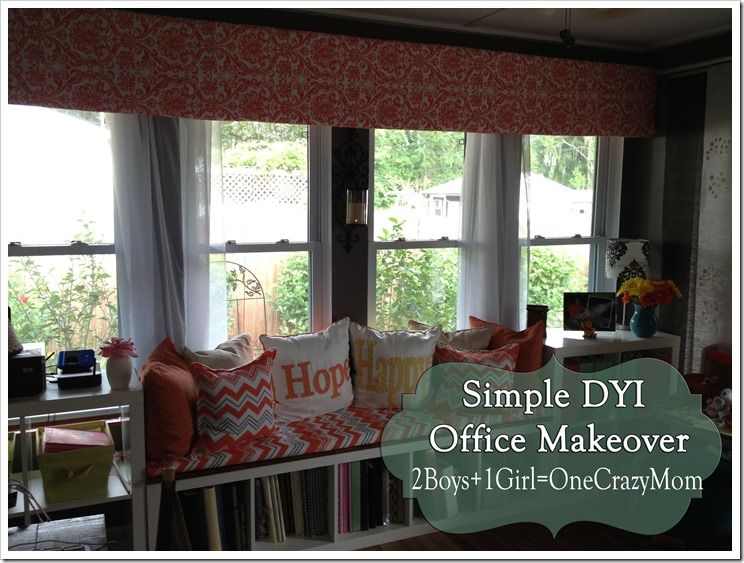 Delightful The Finished Office Makeover With Valance #DYI Projects And All