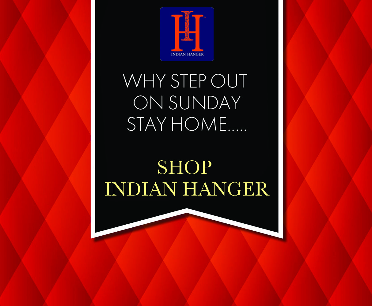 Relax at home and have your shopping delivered to your door. #indianhanger #designerwear #shoponline #worldwide