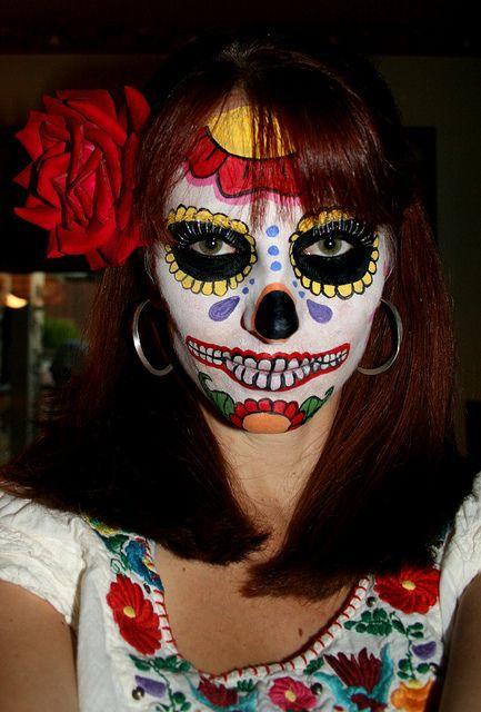 Lauren Snyder's Halloween Makeup-    fabulous.