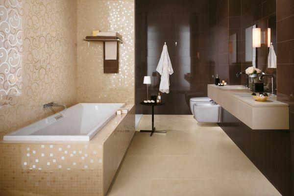 badfliesen beige-braun | bathroom (p)inspiration | pinterest, Hause ideen