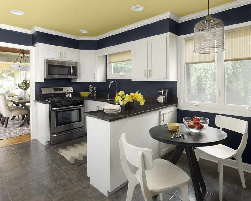 Gentil Paint Colors For Kitchens With White Cabinets