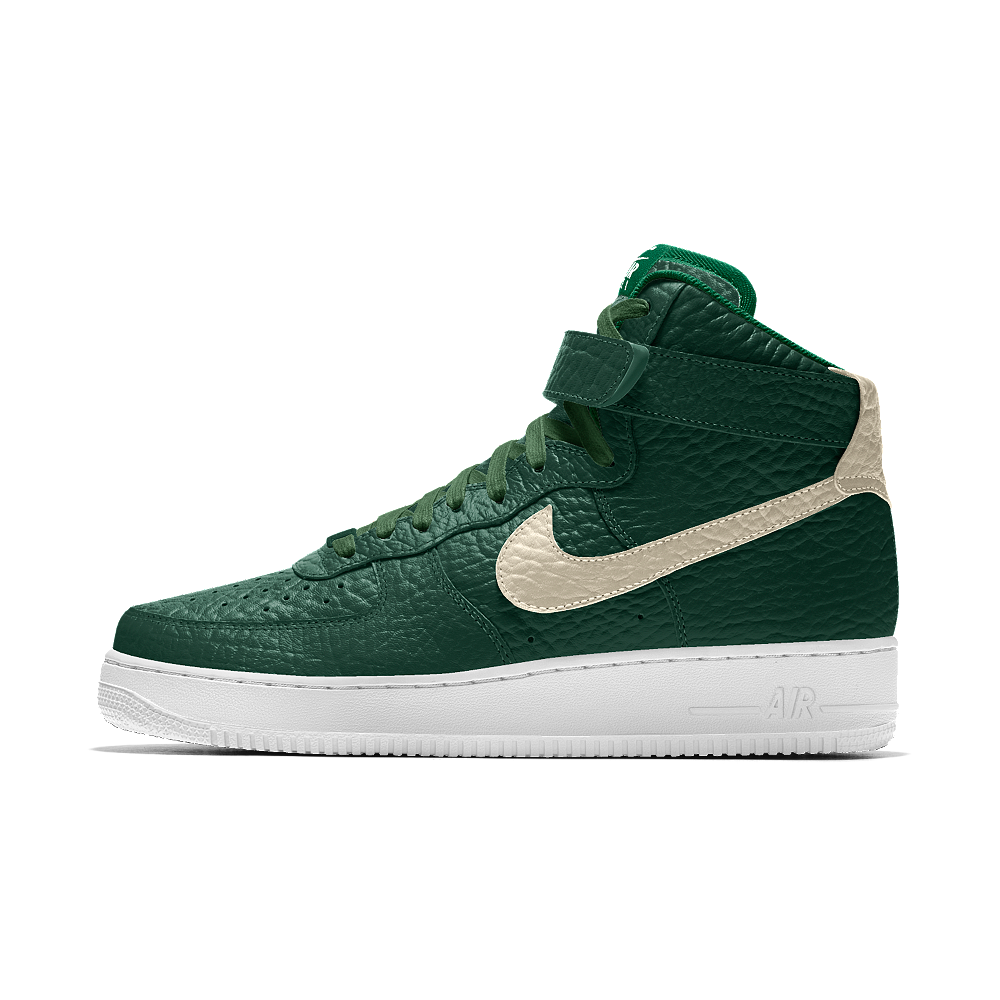 Nike Air Force 1 High Premium iD (Milwaukee Bucks) Men's Shoe Size 17 (Green )