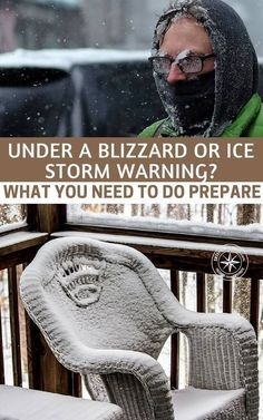 Under A Blizzard Or Ice Storm Warning? What You Need To Do Prepare - Do you have a plan for dealing with a blizzard or ice storm. Of course, I mean the things that follow, particularly the cold! #prepping #preparedness #winterprep #winter #winterpreparedness #winterstormprep