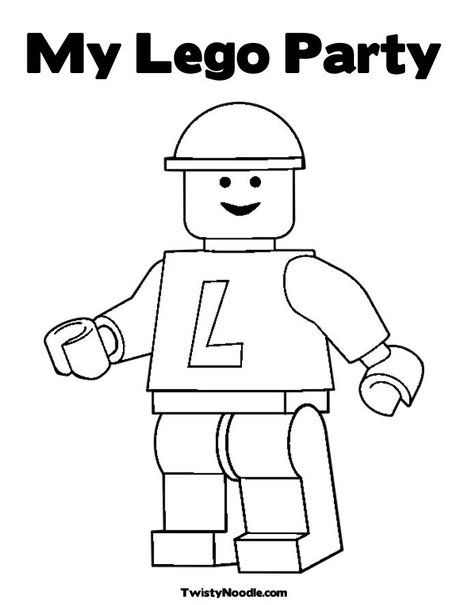 Lego Coloring Page From Twistynoodle Com Kids In 2018 Pinterest