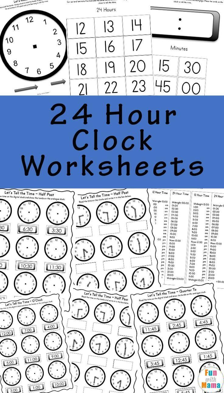Telling Time Worksheets Homeschool worksheets, 1st grade