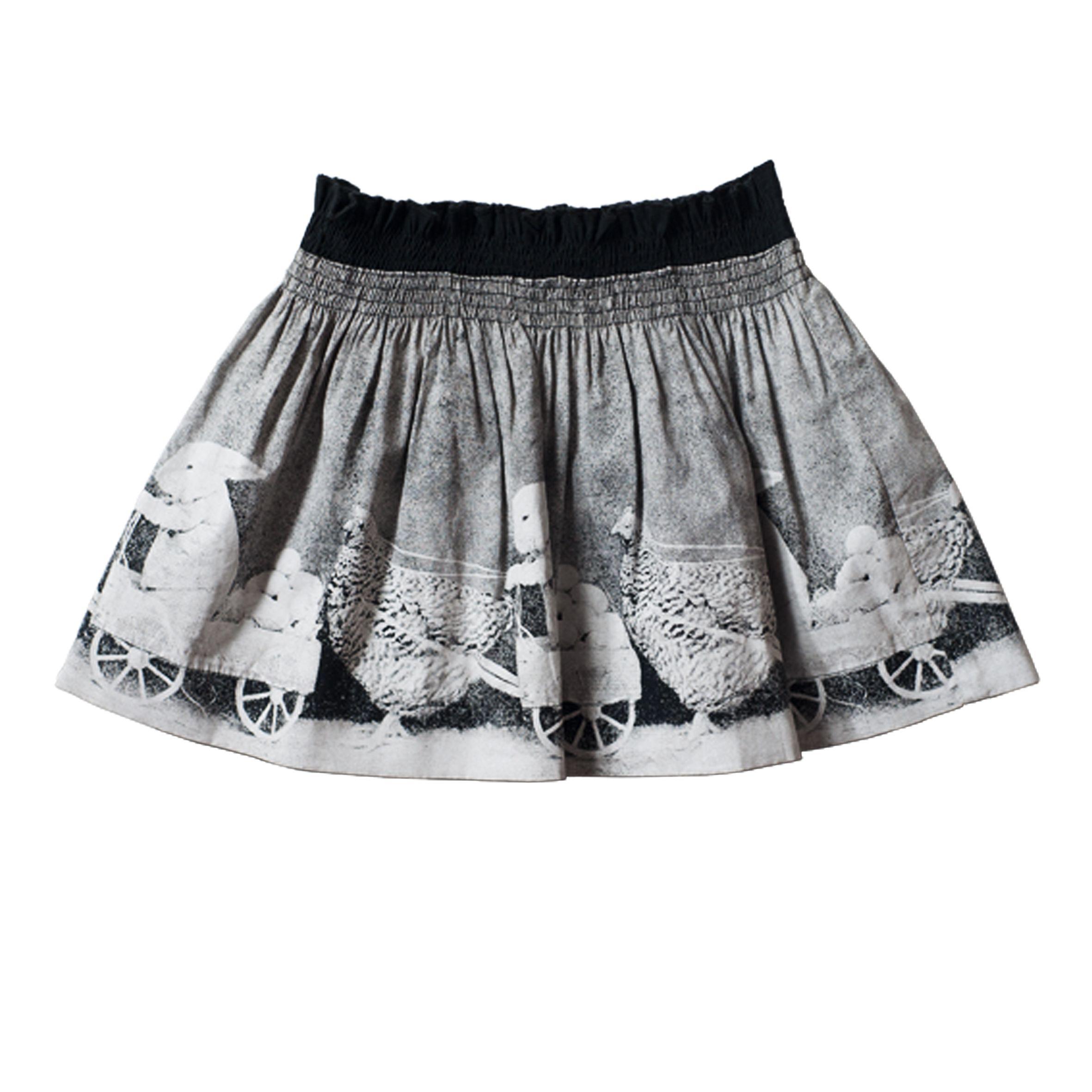 Littlewings Shirred Poplin Skirt – Bunny