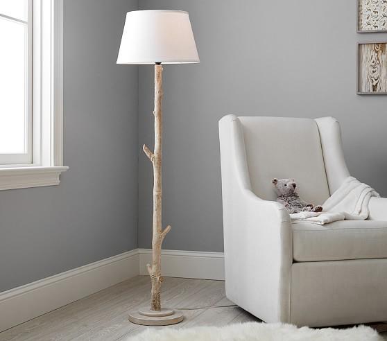 Birch Floor Lamp With Images Birch Floors Nursery Floor Lamp