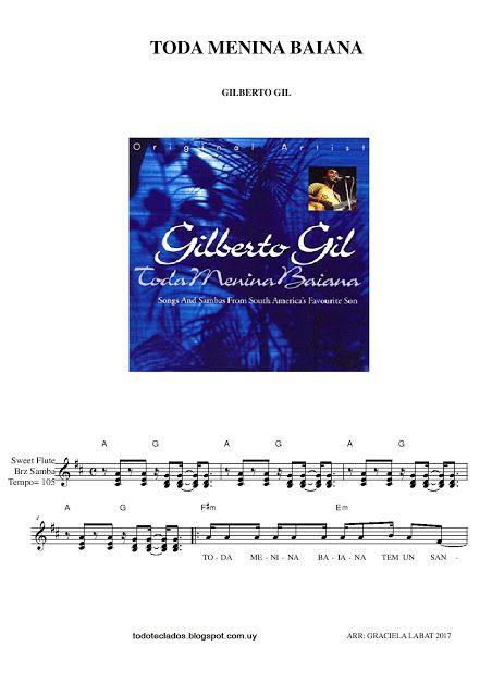 Toda Menina Baiana Gilberto Gil Partituras Canciones Música Latina