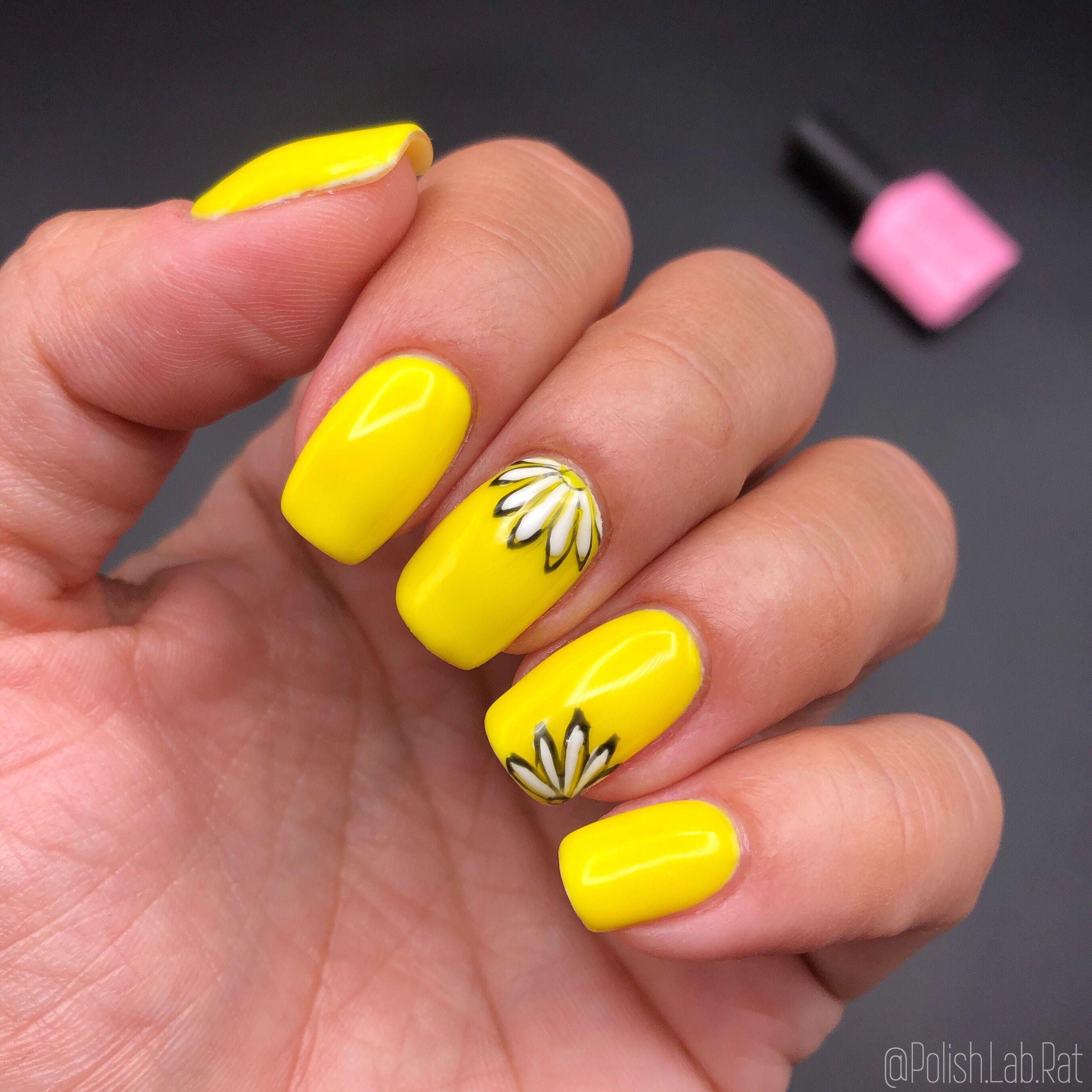 Neon Canary Yellow 052 Yellow Nail Art Yellow Nails Nails