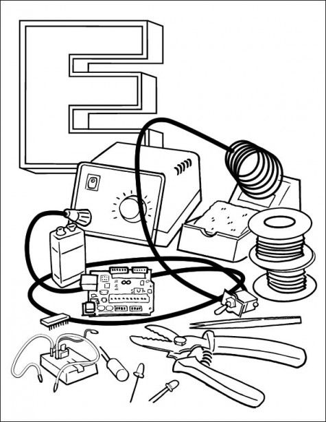 Adafruit Industries Fostering Even The Youngest Of Makers Coloring Books Coloring Pages Zoo Coloring Pages