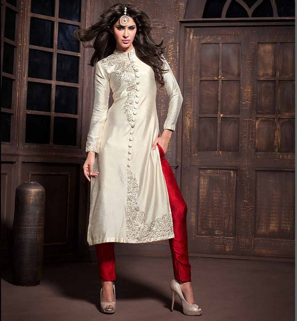 2015 fashion party wear silk salwar kameez suits designer dresses