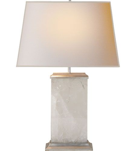 Visual comfort ms3002qs np michael s smith crescent 27 inch 40 watt quartz on silver leaf decorative table lamp portable light