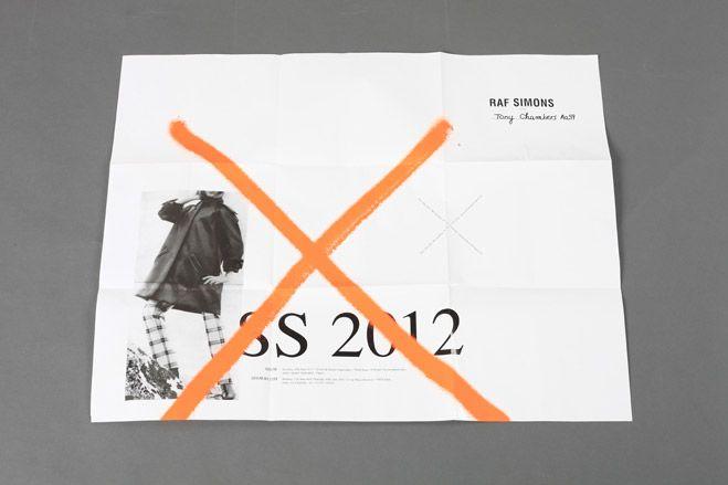 Raf Simons SS12 Mens - oversized, poster, fluoro, photograph