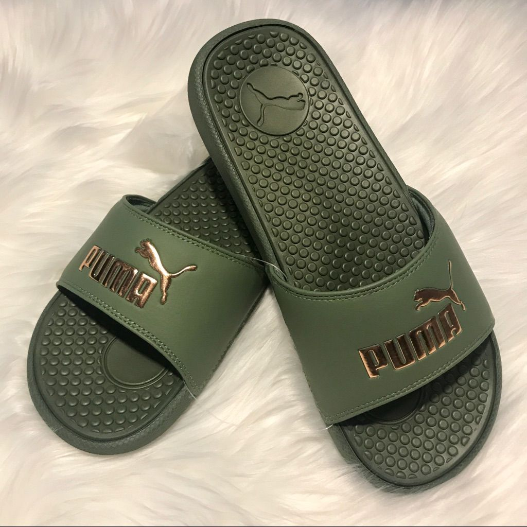 Puma Slides Green \u0026 Gold in 2020 | Puma