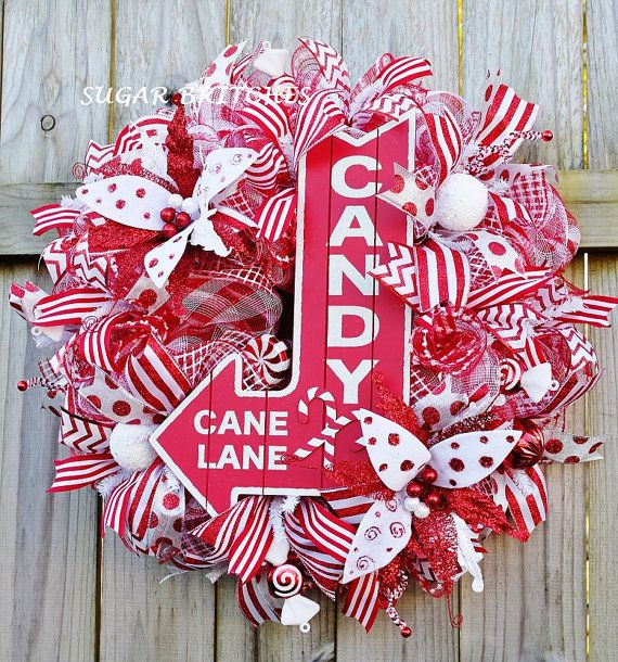 Candy Cane Lane Christmas Decorations Candy Cane Lane Christmas Wreath Christmassugarbritches65