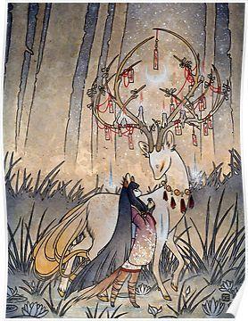 The Wish - Teakitsune Fox Yokai Poster by TeaKitsune