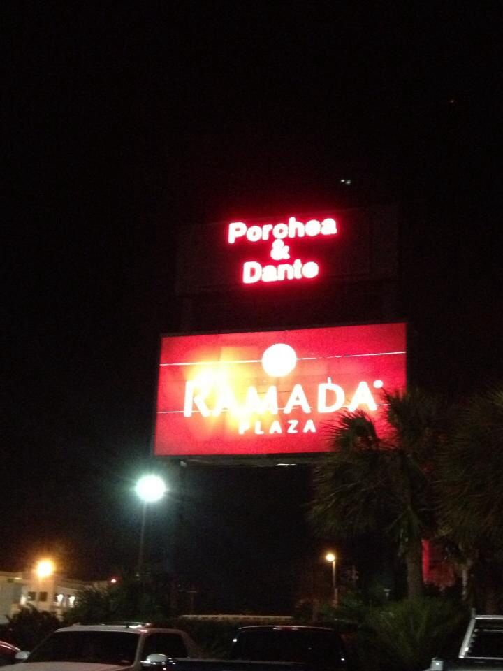 The Ramada in Fort Walton Beach, Florida made us feel famous! (Porchea & Dante)