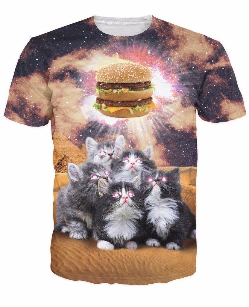 Worship The Burger T Shirt Funny Outfits Galaxy T Shirt Cat Shirts