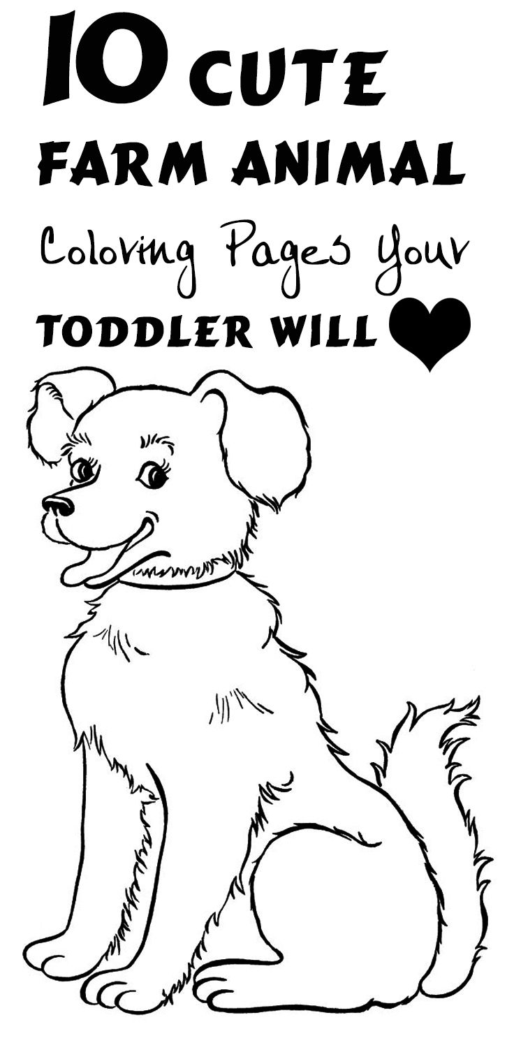 Farm Animals Coloring Pages for Kids - Itsy Bitsy Fun | 1493x736