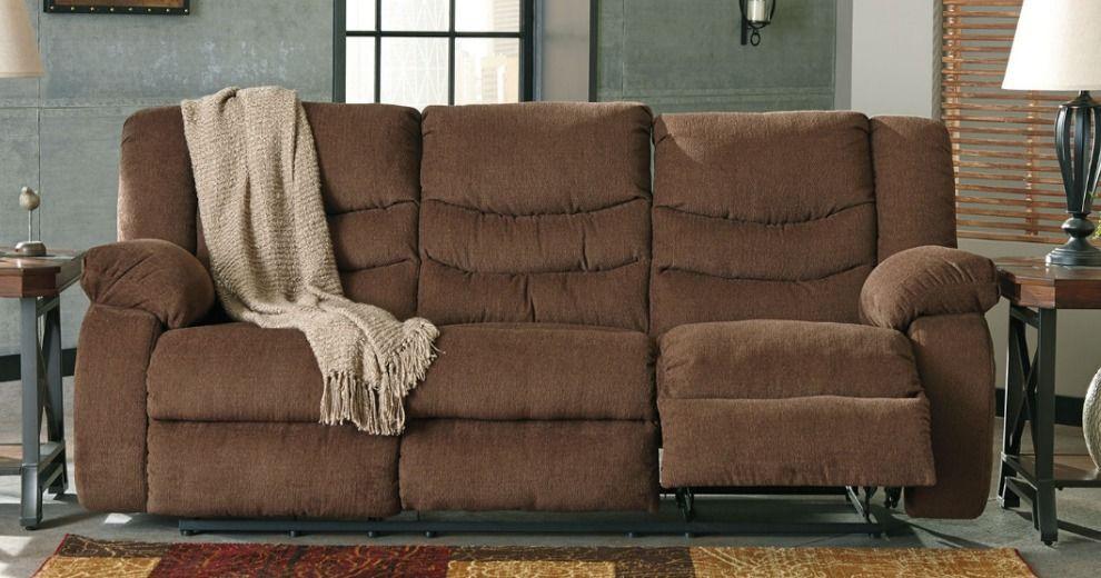 Pleasant Signature Design By Ashley Henderson Pad Arm Reclining Sofa Machost Co Dining Chair Design Ideas Machostcouk