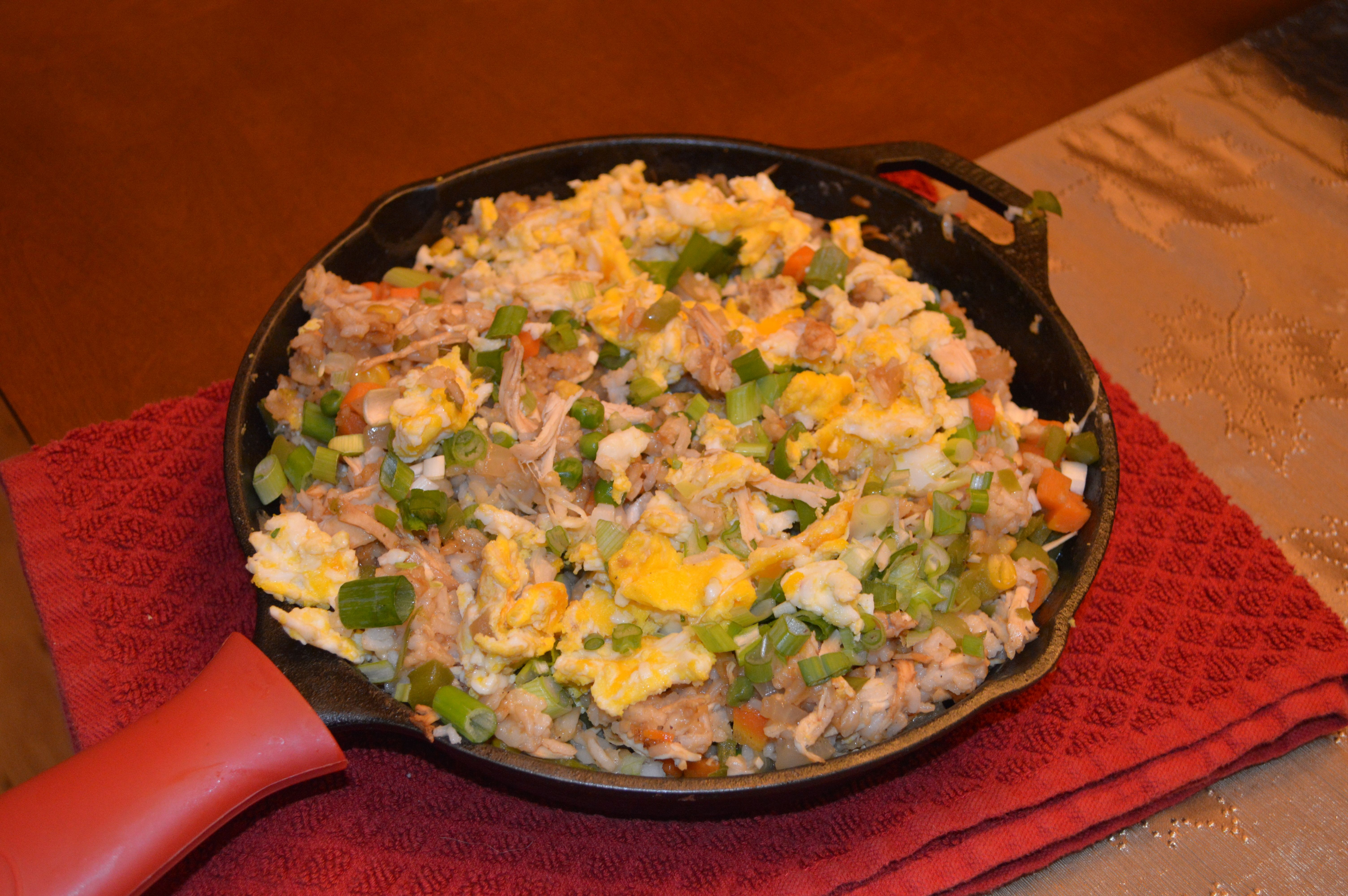 This Chicken Fried Rice in a Cast Iron Pan is out of this world!  And incredibly healthy:)