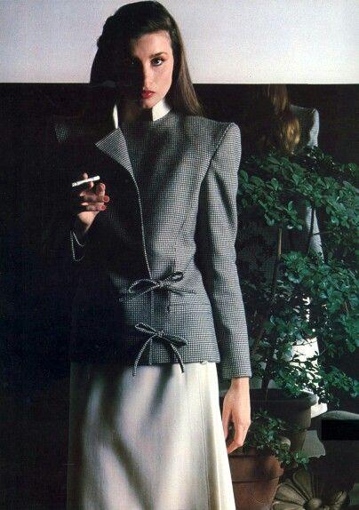 Vogue Italia 80's  Valentino Photo Barry McKinley Model Apollonia von Ravenstein